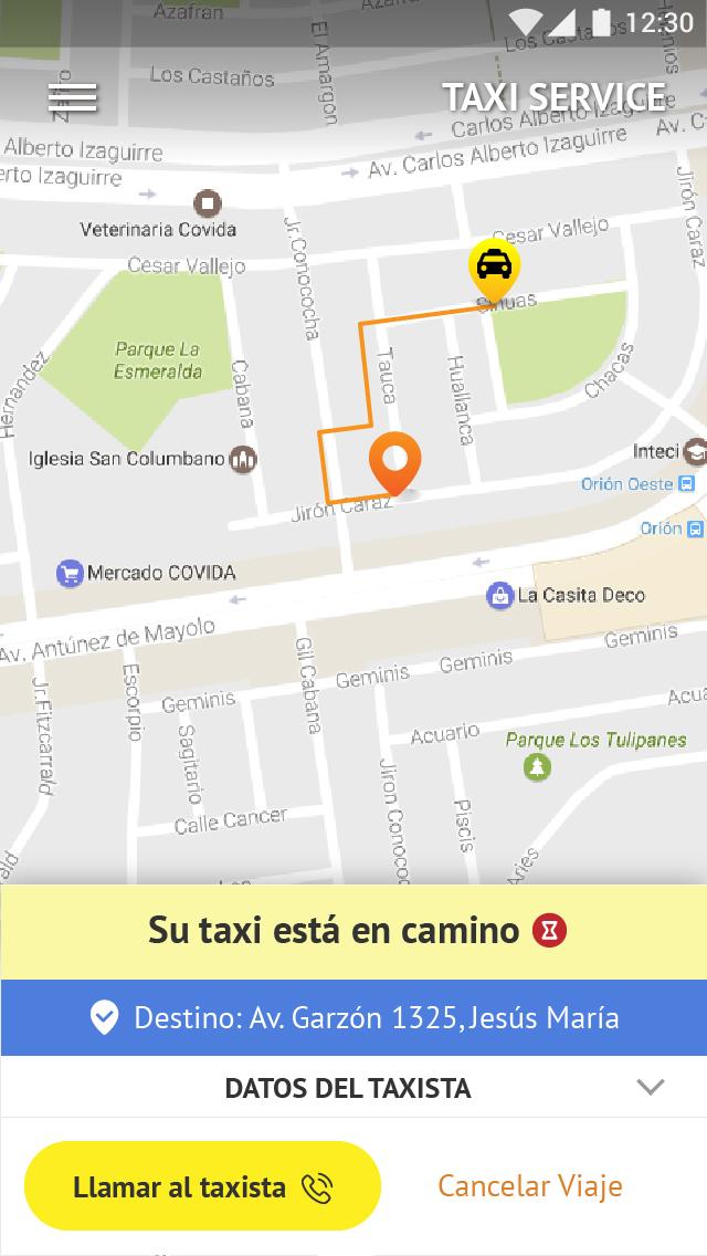 Desarrollo de apps peru para Taxis